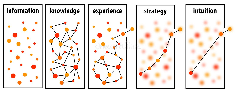 Information strategy vector illustration