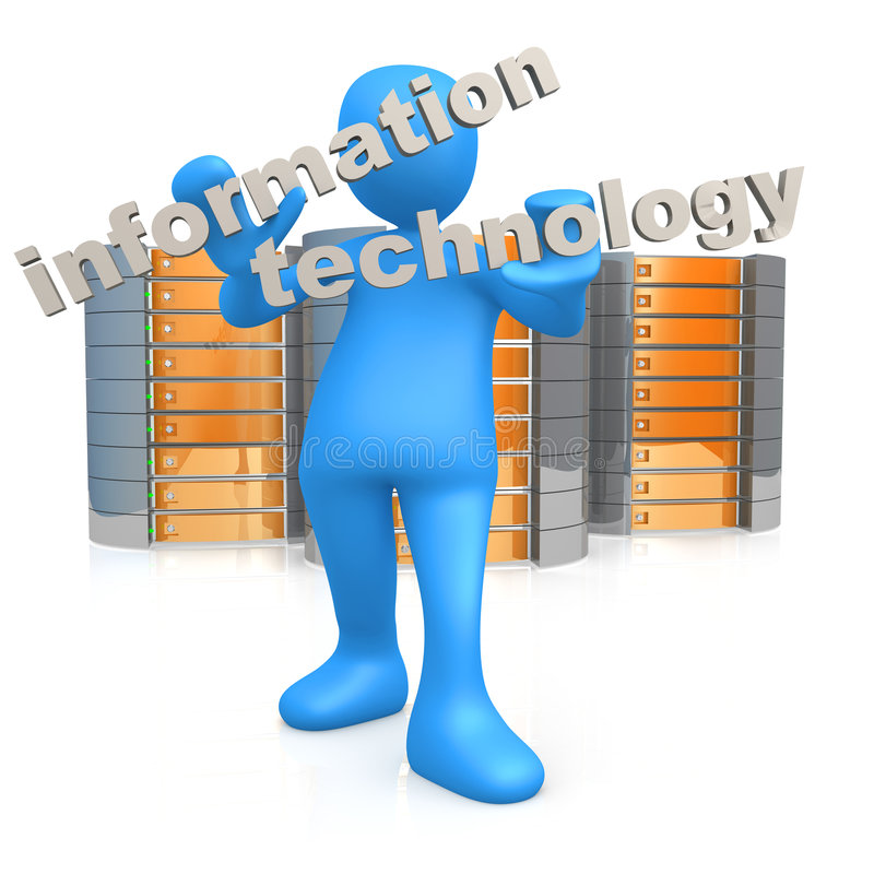 Information Technology royalty free illustration