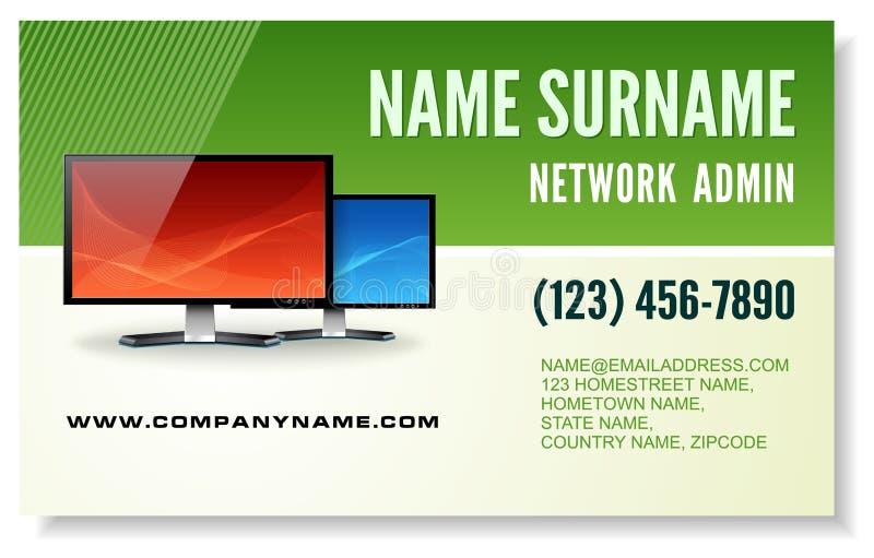 Information technology business card vector illustration
