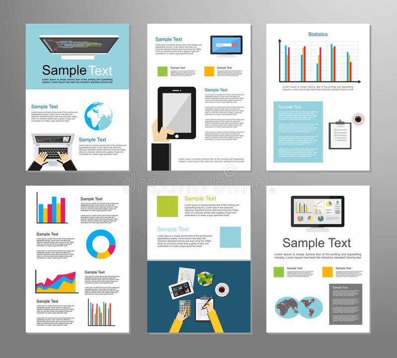 Information Technology Or Business Infographic Elements IT - Information brochure template