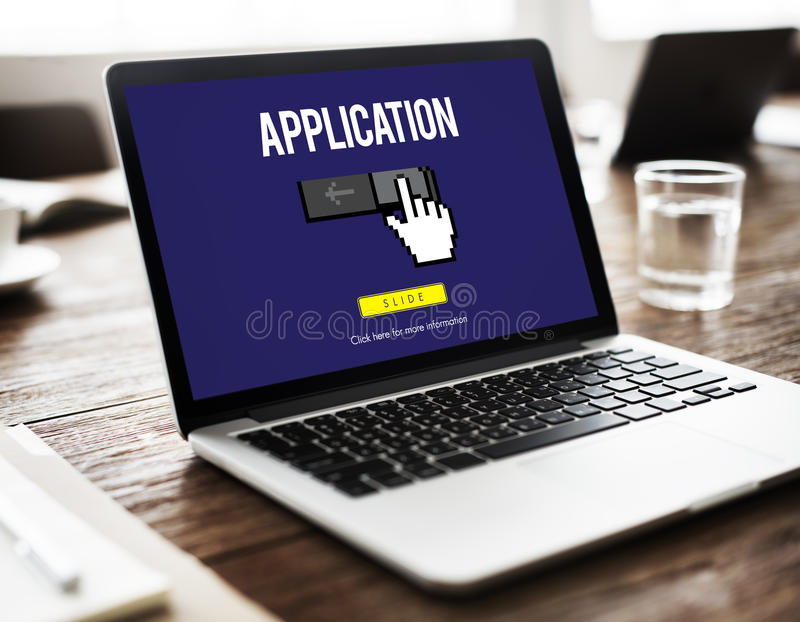Information Technology Computer System Concept royalty free stock photos