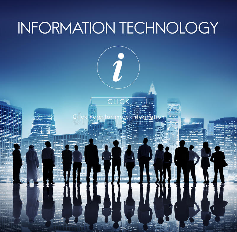 Information Technology Computer System Concept royalty free stock images