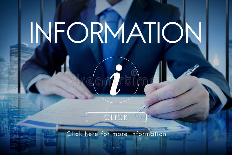 Information Technology Computer System Concept. Business People Looking Information Technology Computer System stock photo