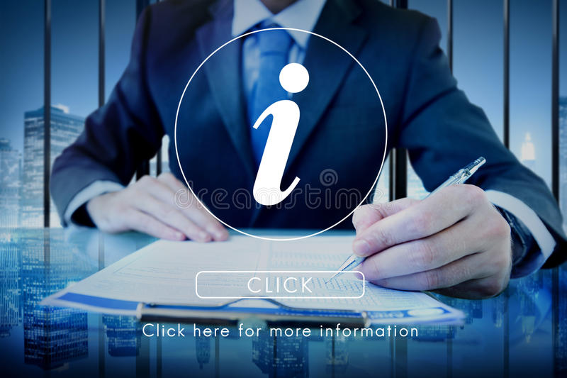 Information Technology Computer System Concept. Business People Reading Information Technology Computer System royalty free stock photography