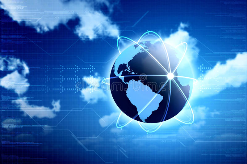 Information Technology Concept. Conceptual image for information technology, cloud computing or internet. Great for backgrounds or main image in your design royalty free illustration