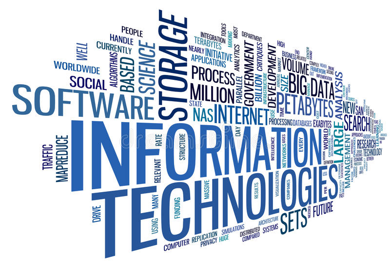 Information technology in tag cloud. Information technology concept in tag cloud on white background