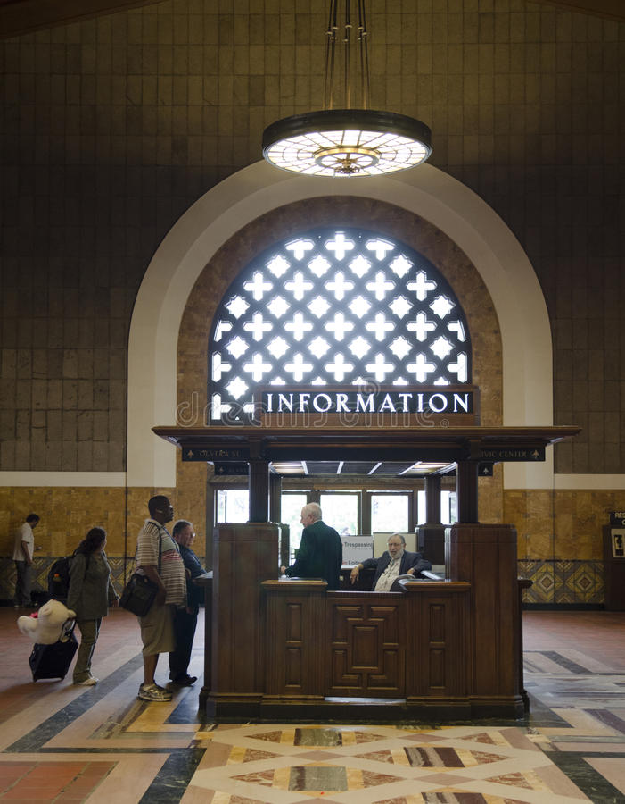 Information Union Station Los Angeles stock photo
