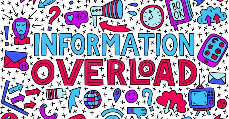 Informational przeciążenie ilustracja ilustracji