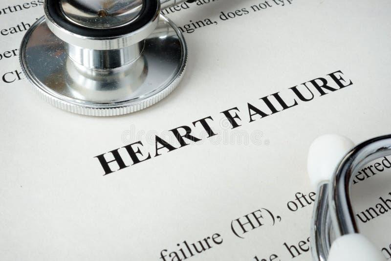 Informationen über Herzversagen stockbilder