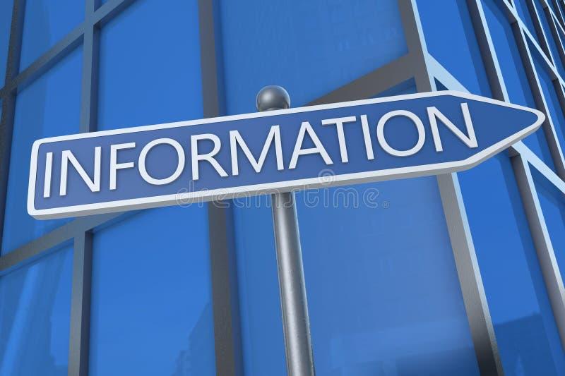informationen stock abbildung