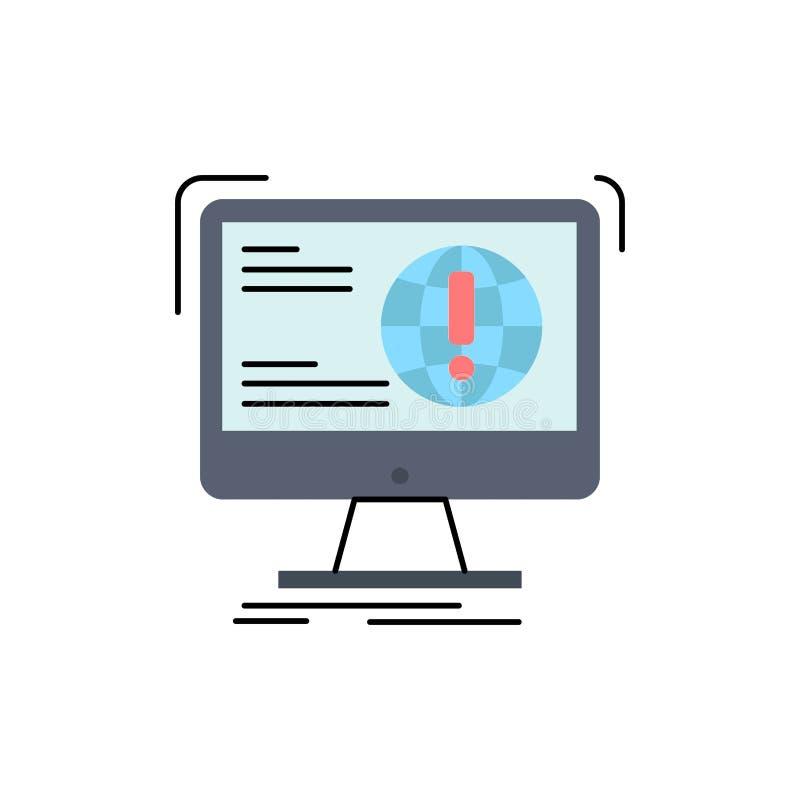 Informationen, Inhalt, Entwicklung, Website, Netz flacher Farbikonen-Vektor stock abbildung