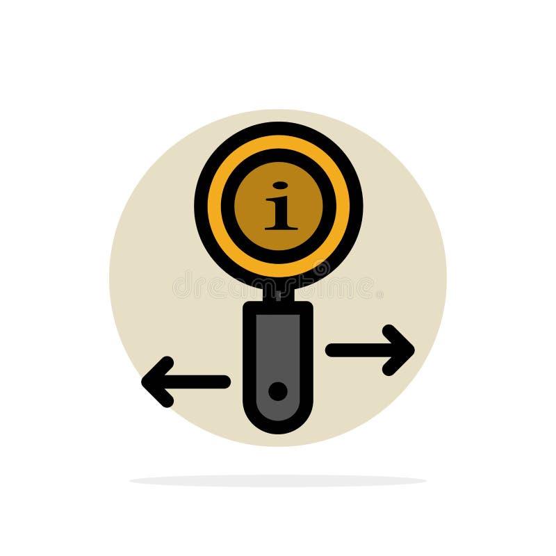 Informationen, Informationen, lautes Summen, flache Ikone Farbe des Suchzusammenfassungs-Kreis-Hintergrundes stock abbildung