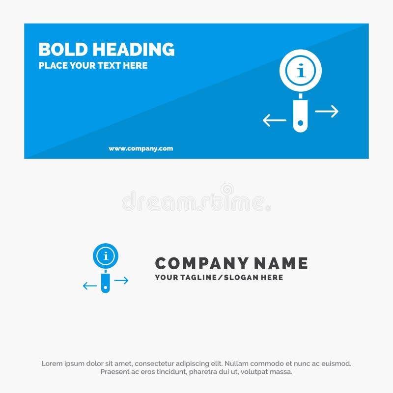 Informationen, Informationen, lautes Summen, Suchfeste Ikonen-Website-Fahne und Geschäft Logo Template stock abbildung