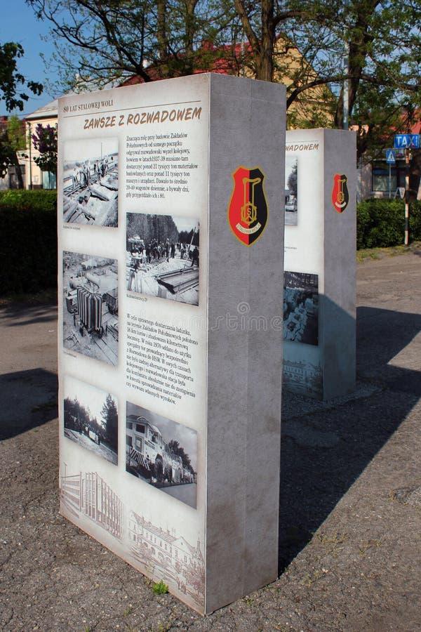 Informationen stehen in Stalowa Wola, Polen stockfotografie