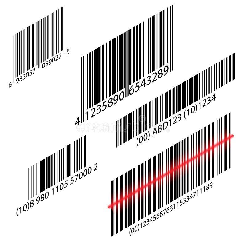 Informationen UPC-Scanner Digital-Leser Erkennungszeichen Modernes einfaches flaches Strichkodezeichen vektor abbildung