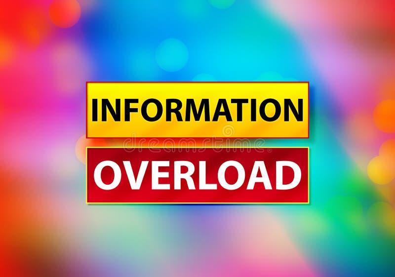 Informationsüberflutungs-Zusammenfassungs-bunte Hintergrund Bokeh-Entwurfs-Illustration lizenzfreie abbildung