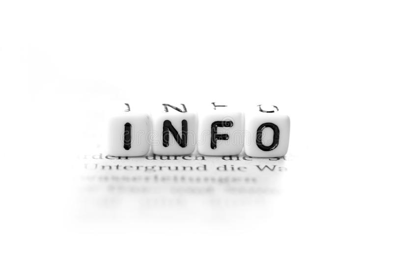 Informations royalty-vrije stock foto's