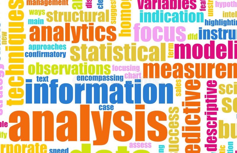 Informations-Analyse lizenzfreie abbildung