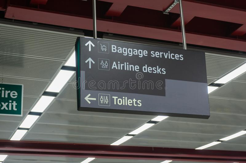 Informations panel in an airport terminal royalty free stock photos