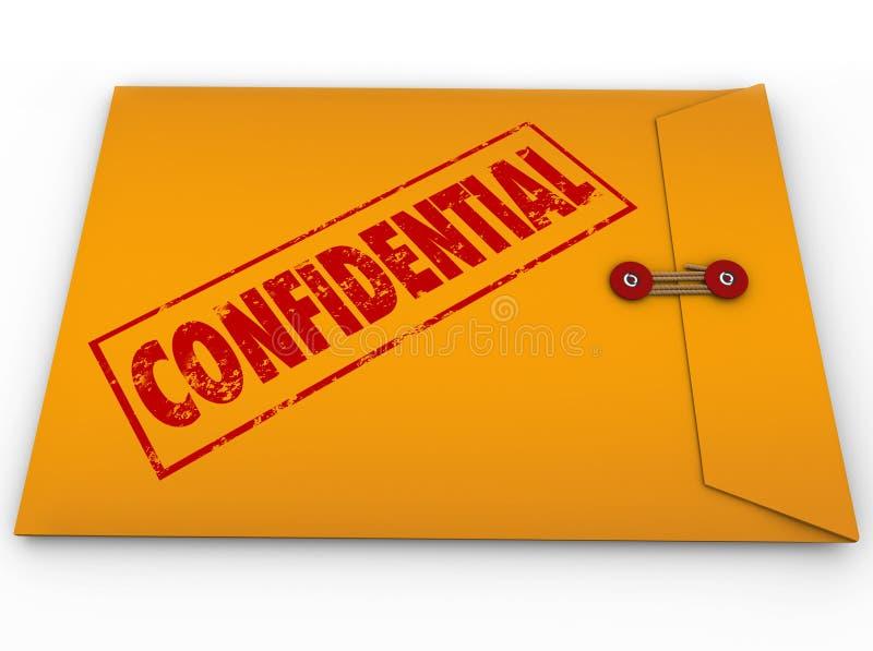 Informations secrètes confidentielles de secret d'enveloppe illustration libre de droits