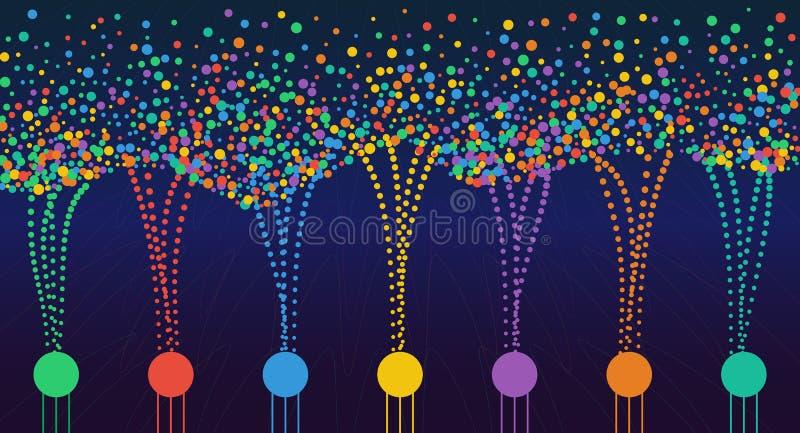 Informations sur les données colorées abstraites de vecteur les grandes assortissant la visualisation illustration de vecteur
