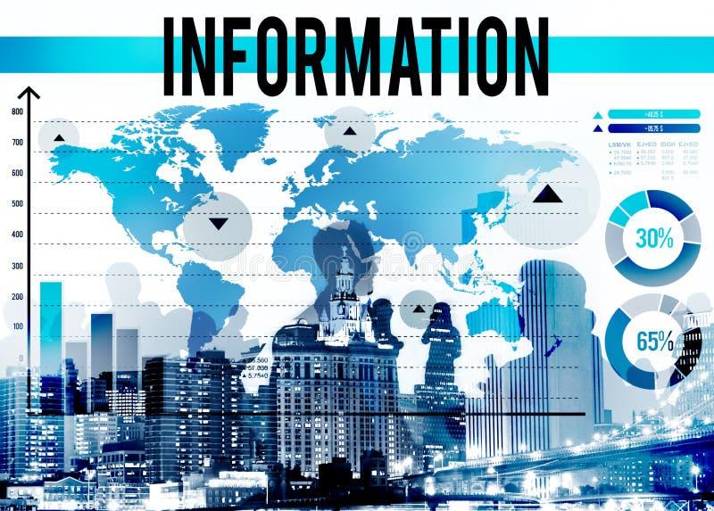 Informations-Tatsachen-Forschungsresultat-Quellkonzept lizenzfreies stockfoto