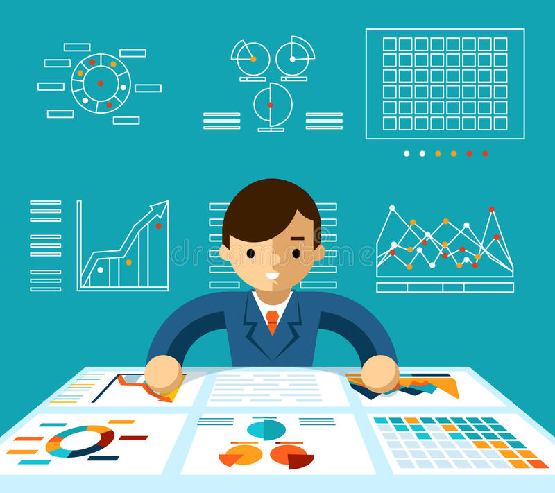 Informationsanalyse lizenzfreie abbildung