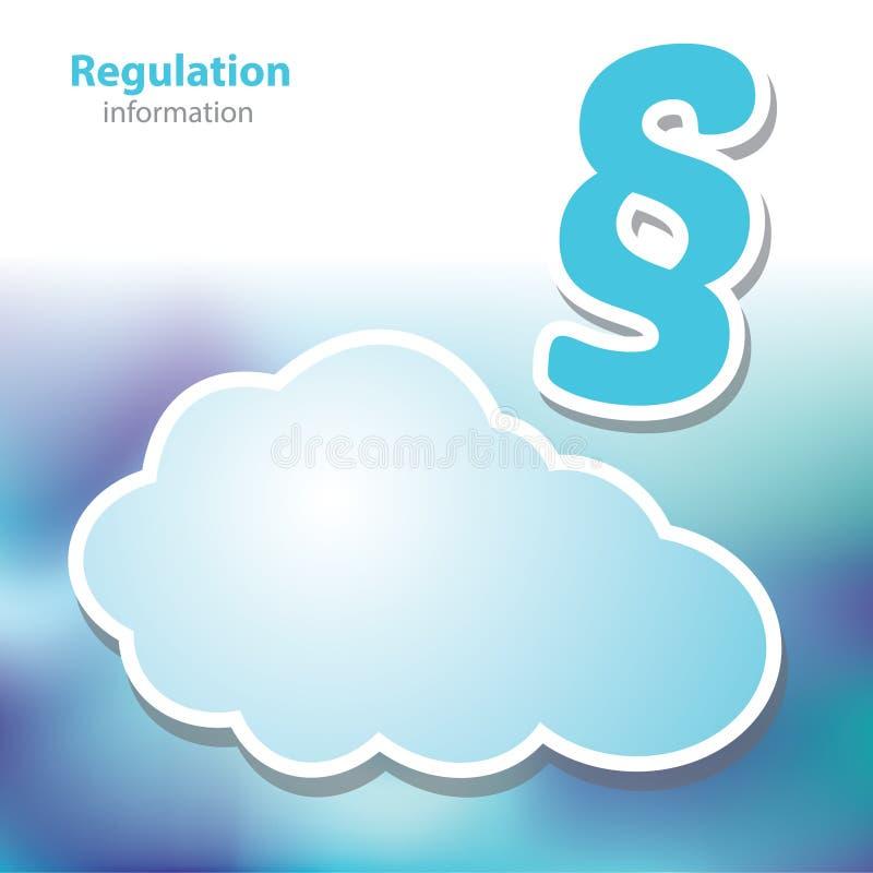 Informationsbräden - reglering - dekret - symbolmoln - mellanrum royaltyfri illustrationer