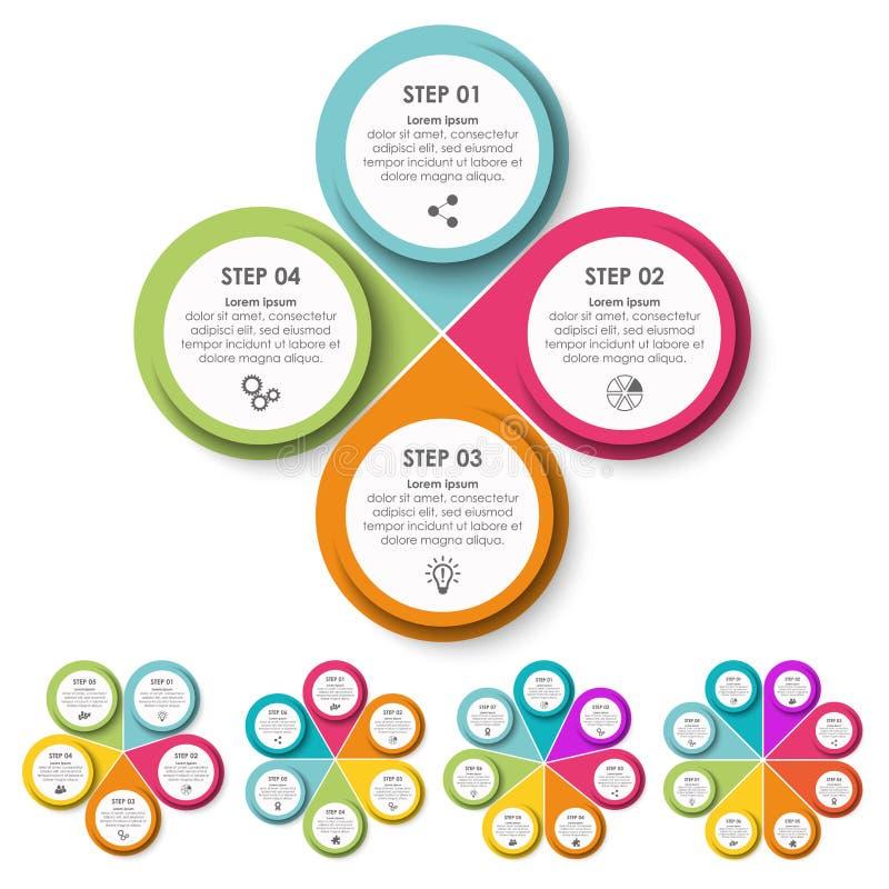 informationsdiagram för affärsidéer stock illustrationer