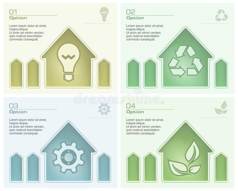 Informationsdiagram med hussymbol stock illustrationer