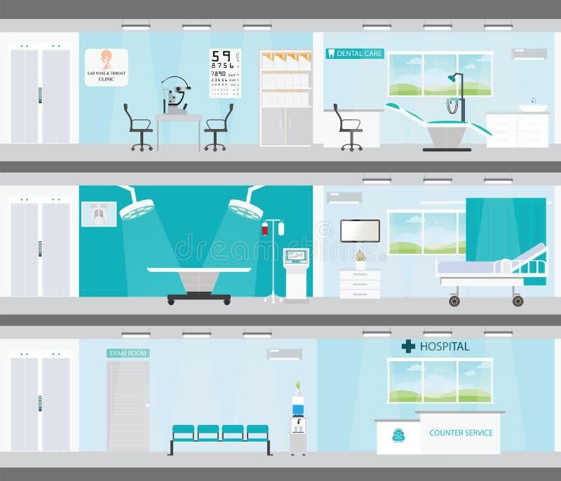 Informationsgraphik von ärztlichen Bemühungen in den Krankenhäusern lizenzfreie abbildung