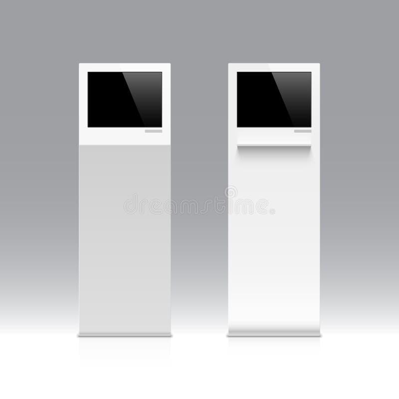 Informationskiosk, terminal, ställning. royaltyfri illustrationer