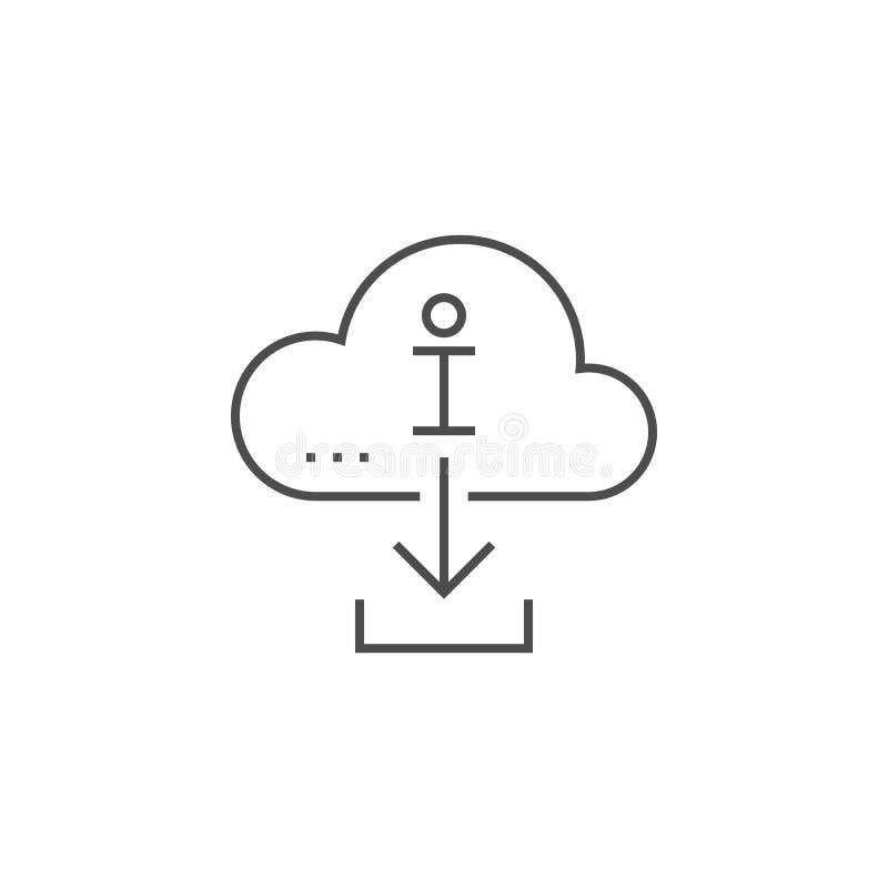 Informationslinje symbol om nedladdning royaltyfri illustrationer