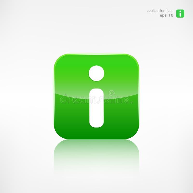 Informationsrengöringsduksymbol applikationknapp royaltyfri illustrationer