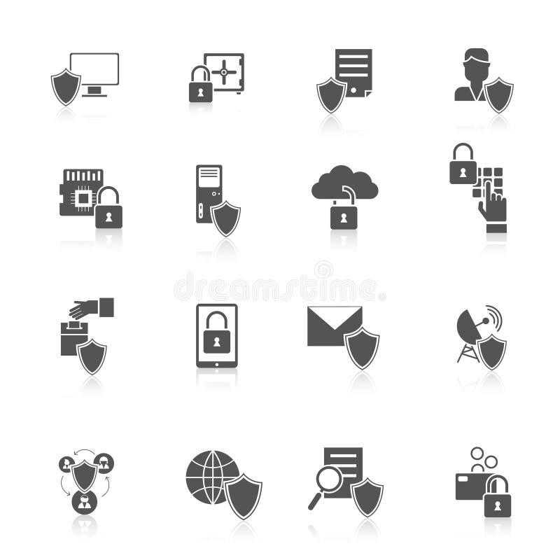 Informationssicherheits-Ikone stock abbildung