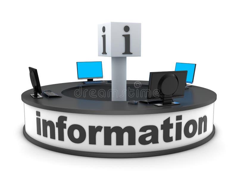 Informationsstellenabteilung stock abbildung