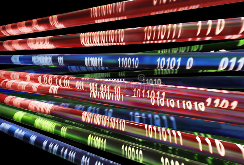 Informationsstrom lizenzfreie stockbilder