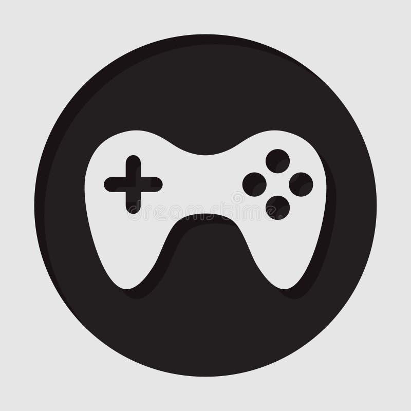Informationssymbol - gamepad royaltyfri illustrationer