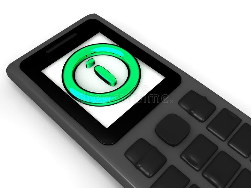 Informationssymbol på telefonen vektor illustrationer