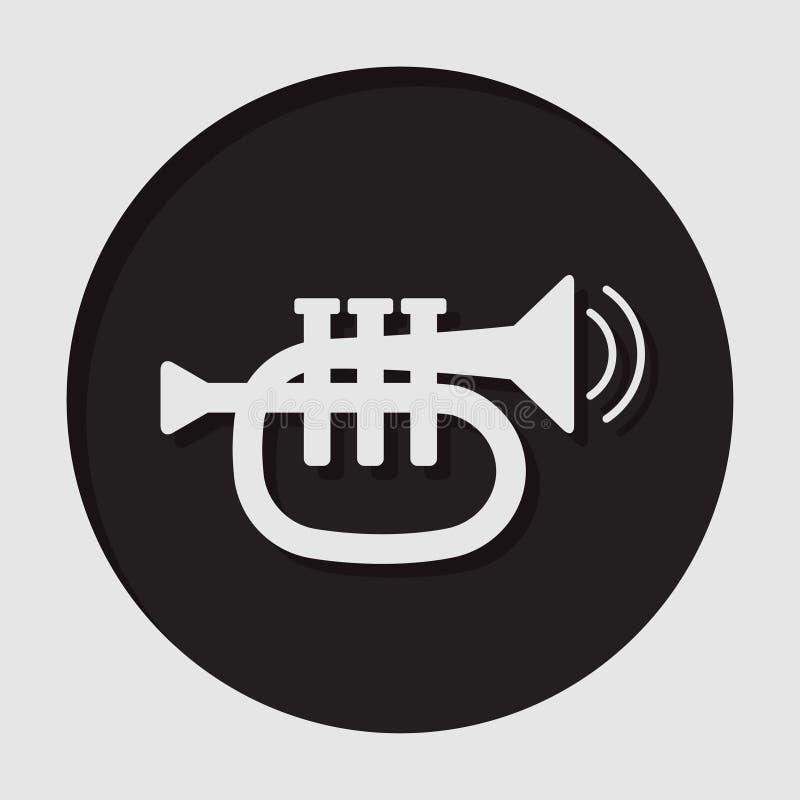 Informationssymbol - trumpet royaltyfri illustrationer
