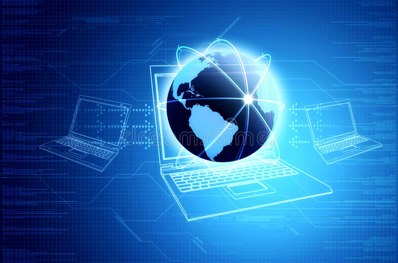 Informationstechnologie u. Vernetzung Konzept stock abbildung