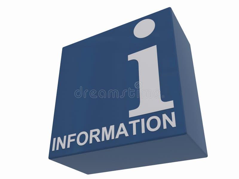 informationstecken vektor illustrationer