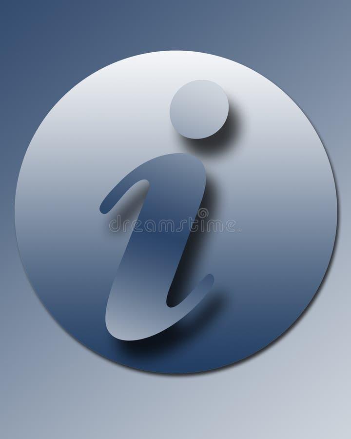 informationstecken om knapp vektor illustrationer