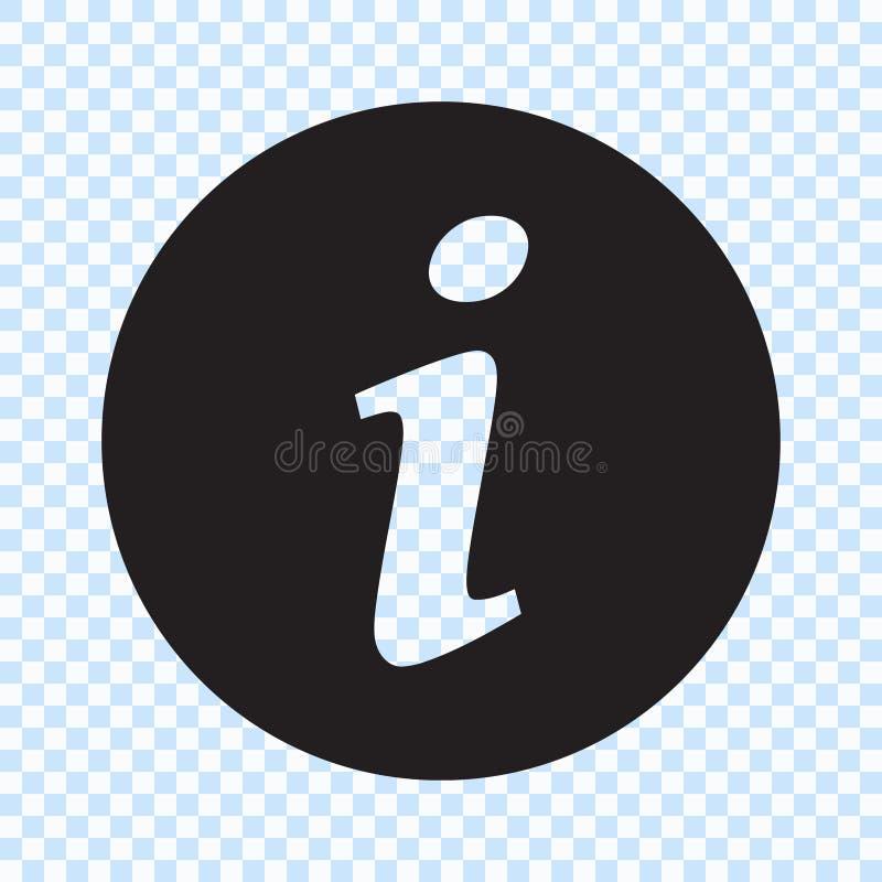 Informationsteckensymbol, informationssymbol royaltyfri illustrationer
