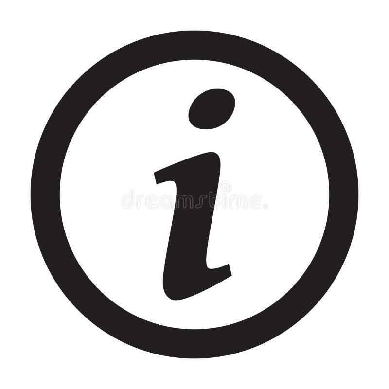 Informationsteckensymbol, informationssymbol, bokstav I royaltyfri illustrationer
