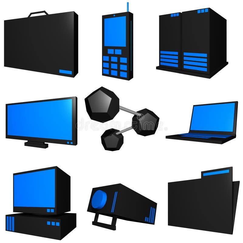informationsteknik om busines vektor illustrationer