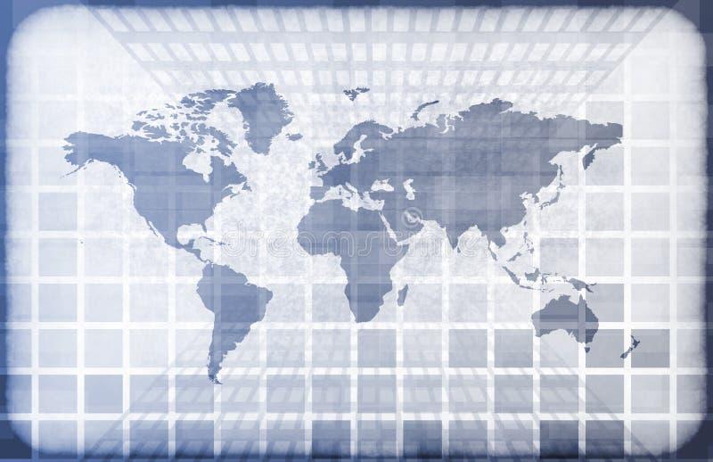 informationsteknikvärld om grunge stock illustrationer