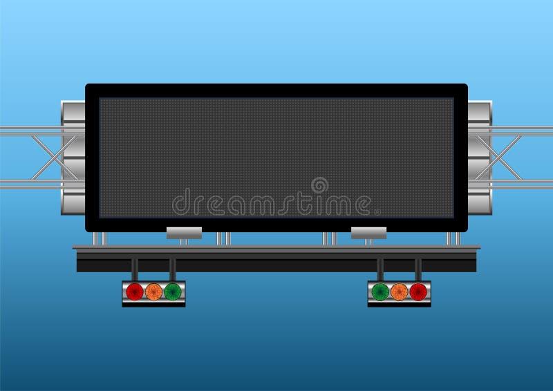 Informative elektronische Anzeige der Datenbahn vektor abbildung