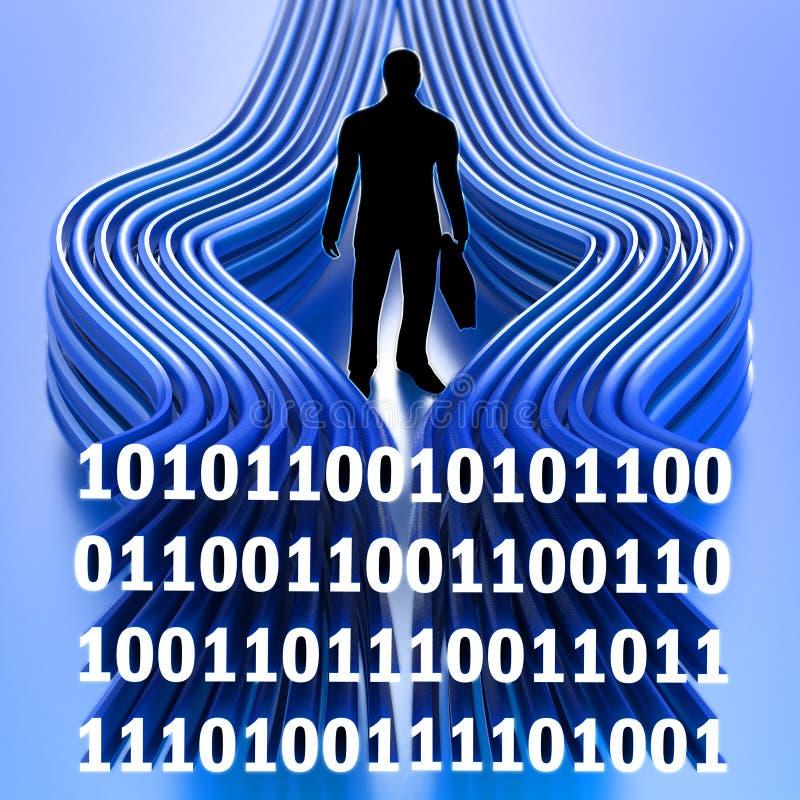 Informativt teknologibegrepp stock illustrationer