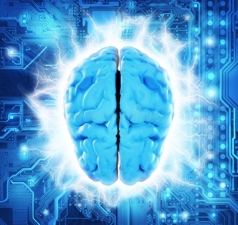 Informatyka mózg Circuitry royalty ilustracja